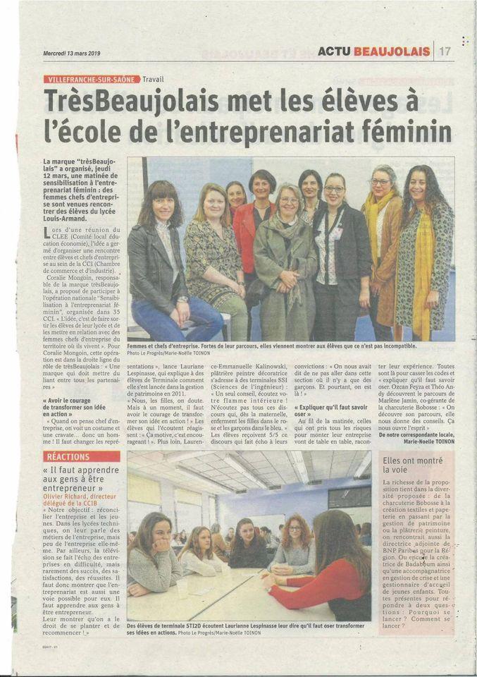 Matinée de sensibilisation des élèves du Lycée Louis-Armand à l'entrepreneuriat féminin