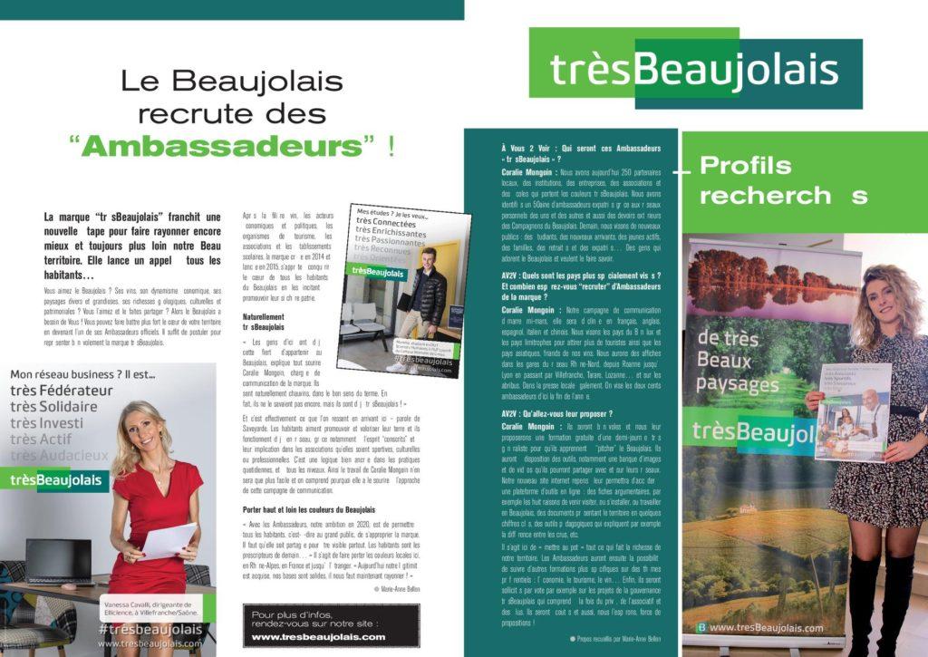 Article de presse trèsBeaujolais du 12 mars 2020