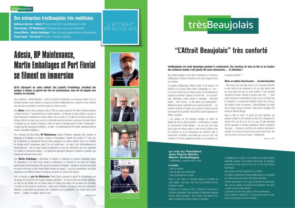 Article de presse trèsBeaujolais du 24 juin 2020