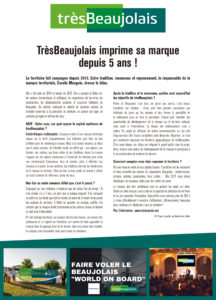 Article de presse trèsBeaujolais du 16 septembre 2020